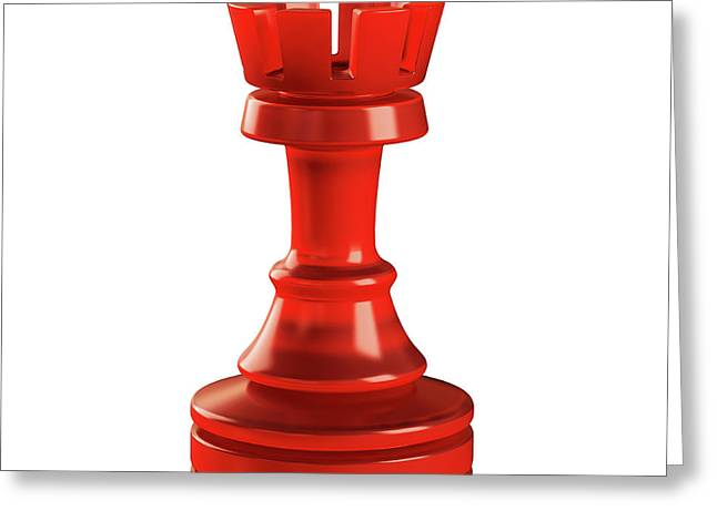Rook Chess Piece Greeting Card
