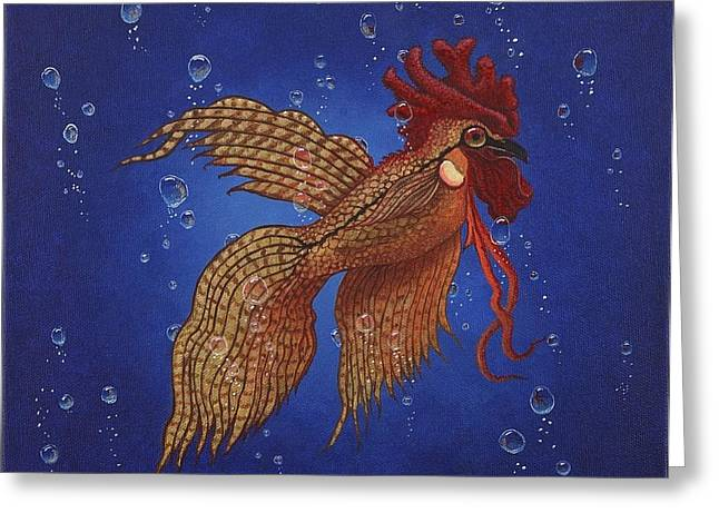 Roosterfish II Greeting Card by Fred-Christian Freer