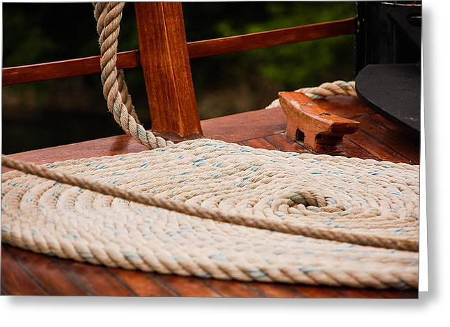 Greeting Card featuring the photograph Rope Circle by Dany Lison