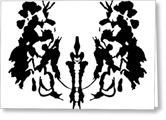 Rorschach Inkblot Greeting Card