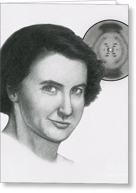 Rosalind Franklin Greeting Card by Spencer Sutton