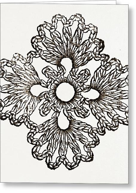 Rosette, Needlework Greeting Card by Litz Collection