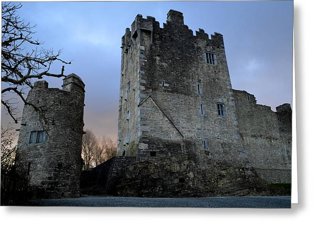 Ross Castle Greeting Card by Barbara Walsh