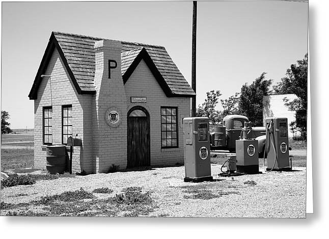 Route 66 - Phillips 66 Gas Station Greeting Card by Frank Romeo