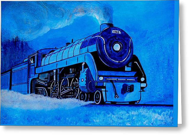 Royal Blue Express Greeting Card by Pjohn Artman