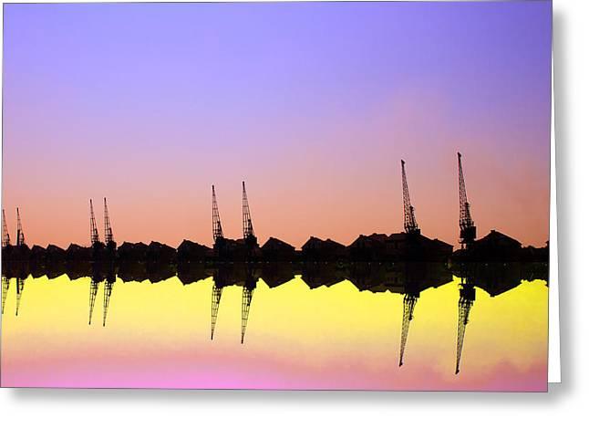 Royal Docks Cranes  Art Greeting Card by David French