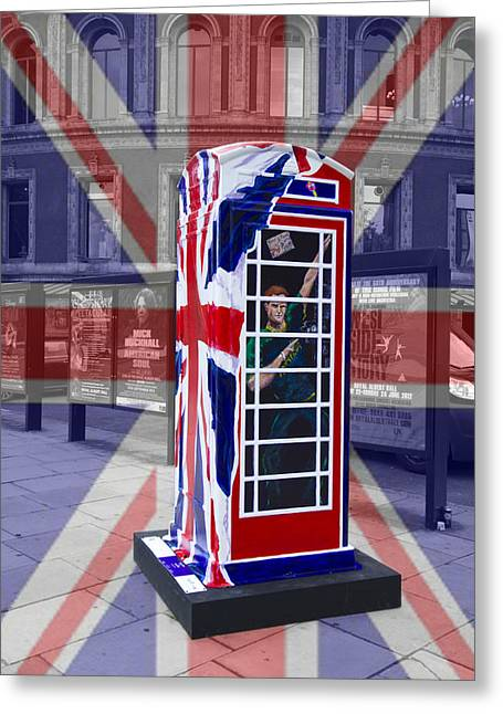 Royal Telephone Box Greeting Card by David French
