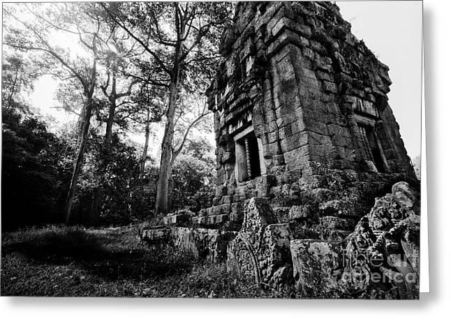 Ruin At Angkor Wat Greeting Card by Julian Cook