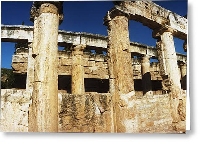 Ruins Of The Roman Town Of Hierapolis Greeting Card