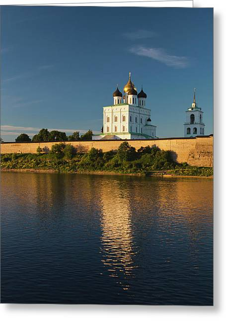 Russia, Pskovskaya Oblast, Pskov Greeting Card by Walter Bibikow