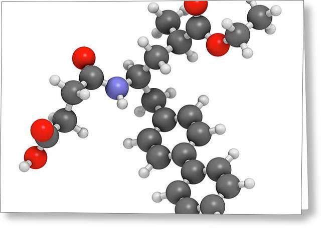 Sacubitril Hypertension Drug Molecule Greeting Card by Molekuul