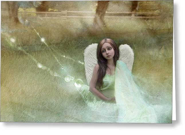 Sad Little Angel Greeting Card