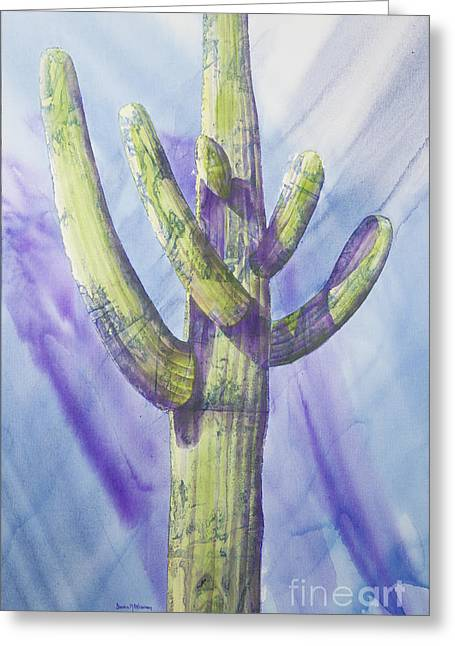 Saguaro In Winter Greeting Card