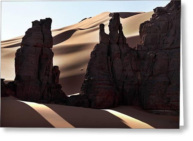 Saharan Rock Formations Greeting Card