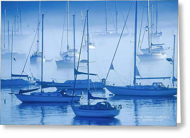 Sailboats In The Fog - Maine Greeting Card