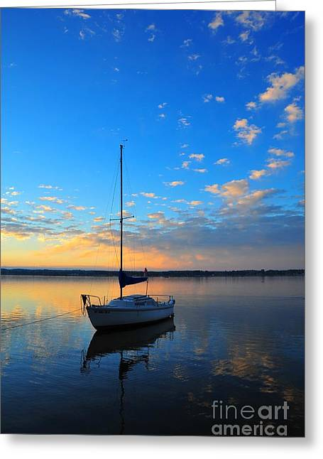 Greeting Card featuring the photograph Sailing 2 by Terri Gostola