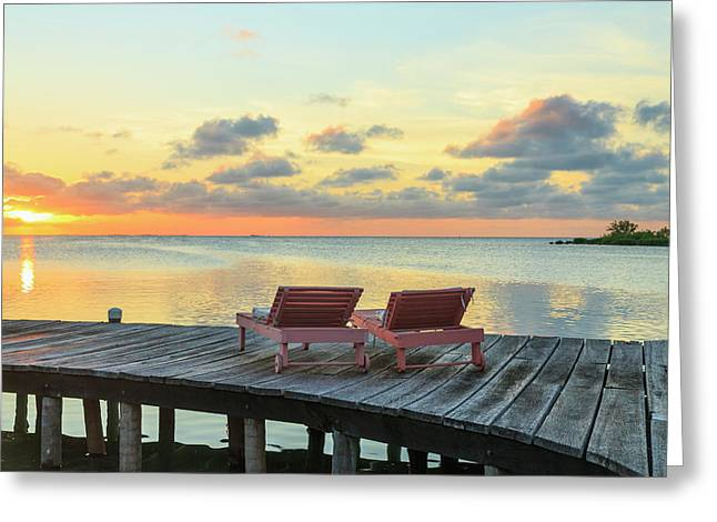 Saint Georges Caye Resort, Belize (pr Greeting Card by Stuart Westmorland