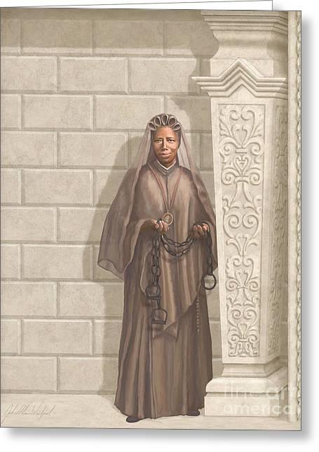 Saint Josephine Bakhita Greeting Card by John Alan  Warford