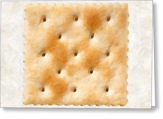 Saltine Cracker Greeting Card by Danny Smythe