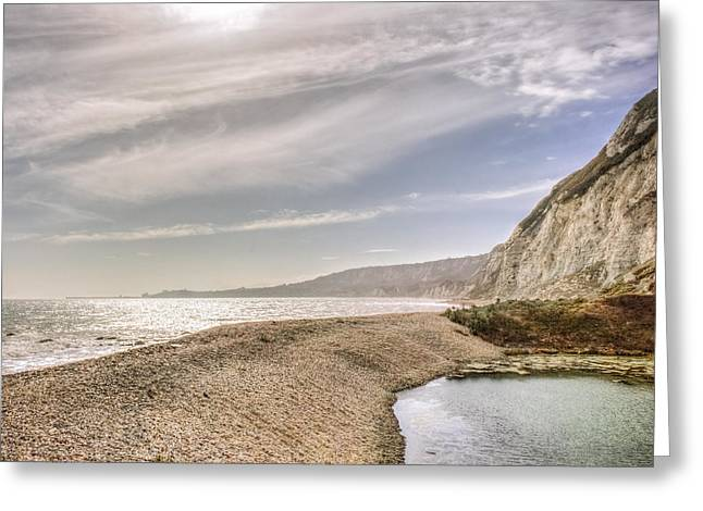 Samphire Hoe Beach Greeting Card by Ian Hufton