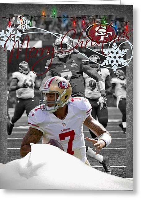 San Francisco 49ers Christmas Card Greeting Card by Joe Hamilton