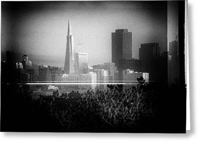 San Francisco Skylines Greeting Card by Celso Diniz