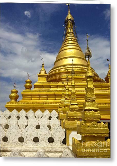 Greeting Card featuring the photograph Sandamuni Pagoda Mandalay Burma by Ralph A  Ledergerber-Photography