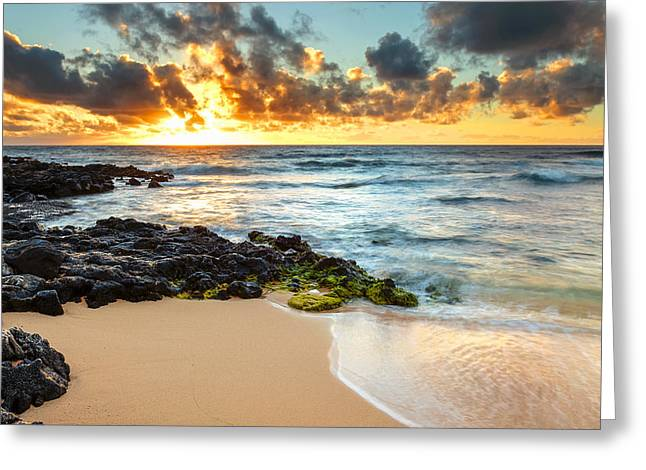 Sandy Beach Sunrise 7 Greeting Card