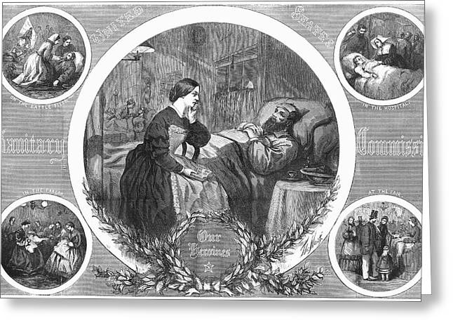 Sanitary Commission, 1864 Greeting Card by Granger