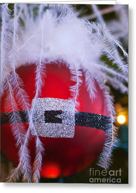 Santa Claus Ornament Greeting Card by Birgit Tyrrell