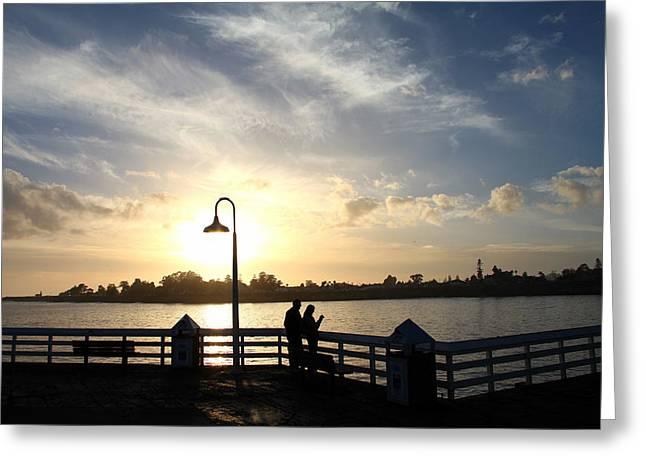 Santa Cruz Wharf Greeting Card