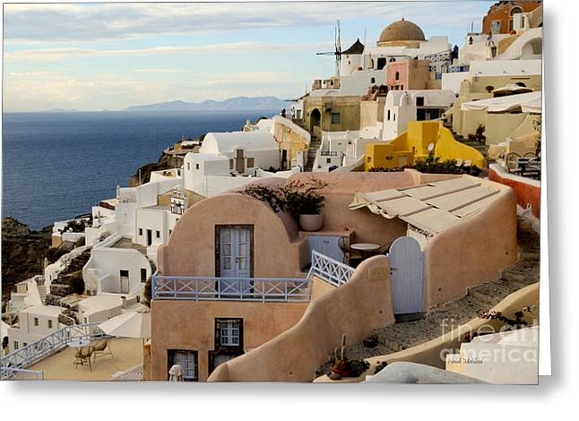 Santorini - Greece Greeting Card