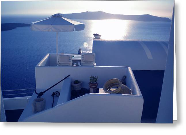 Santorini Island Greece Greeting Card