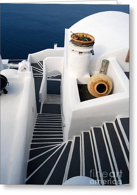 Santorini Steps Greeting Card
