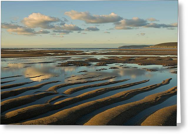 Saunton Sands Devon Greeting Card by Pete Hemington