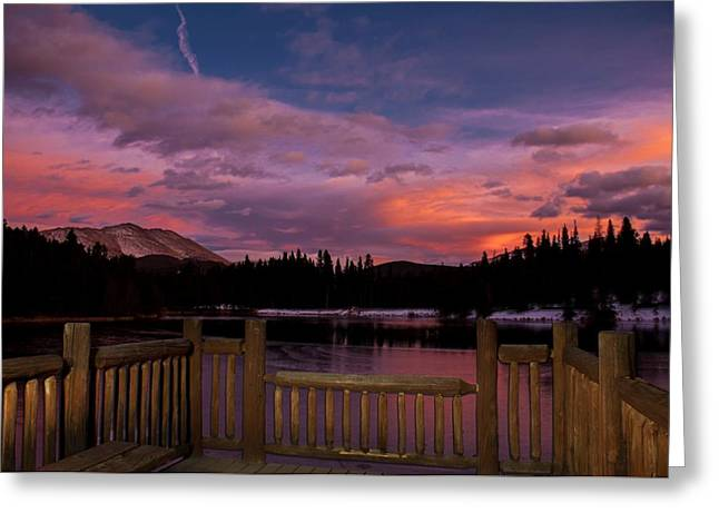 Sawmill Lake Sunset Greeting Card by Michael J Bauer