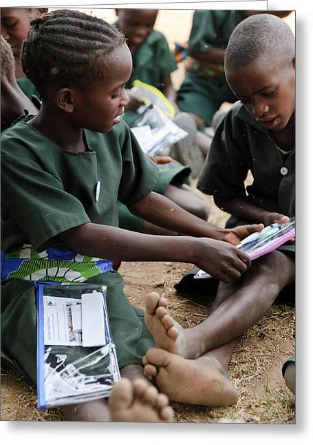 Schoolchildren Greeting Card