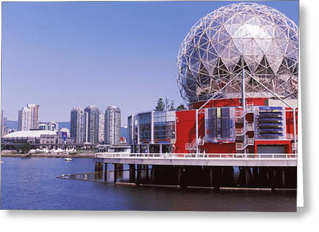 Science Museum At The Waterfront Greeting Card by Panoramic Images