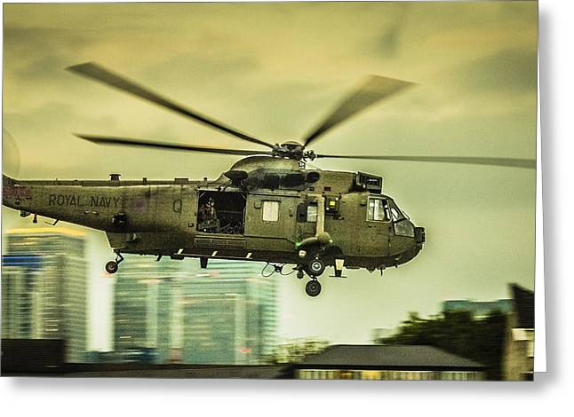 Sea King Helicopter Greeting Card by Dawn OConnor