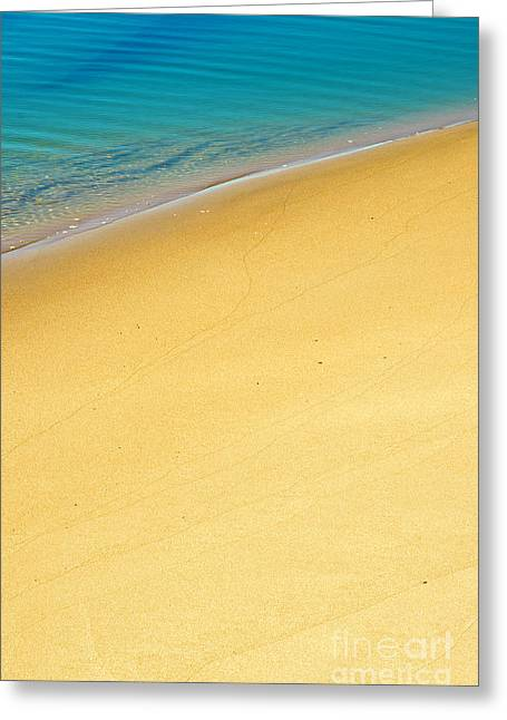 Sea Shore Greeting Card by Carlos Caetano