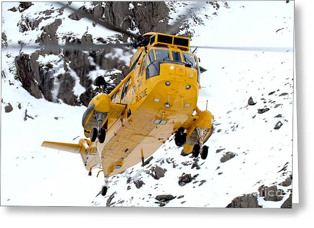 Seaking Helicopter Greeting Card by Paul Fearn