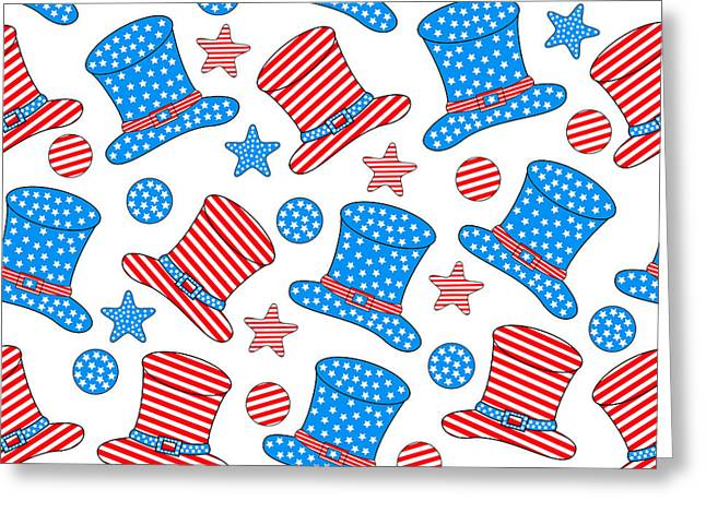 Seamless Pattern For 4th Of July Greeting Card