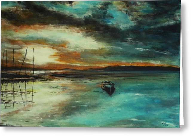 Seascape. Impressionism. Greeting Card by Stanimir  Stoykov