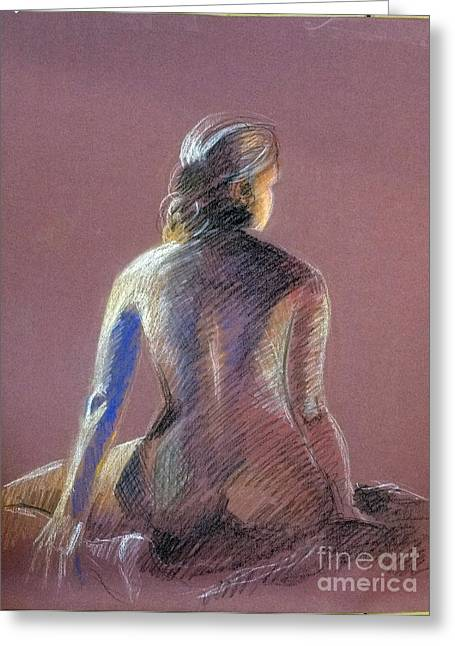 Seated Female Model Greeting Card