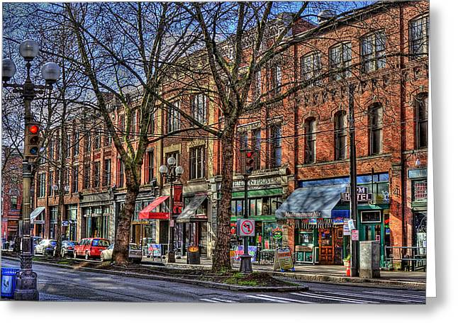 Seattle Greeting Card by David Patterson