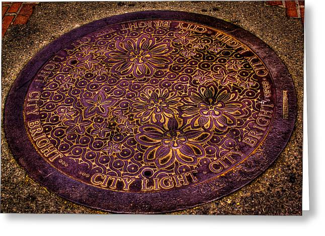 Seattle Manhole Cover Greeting Card