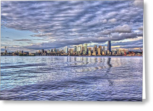 Seattle Skyline Cityscape Greeting Card