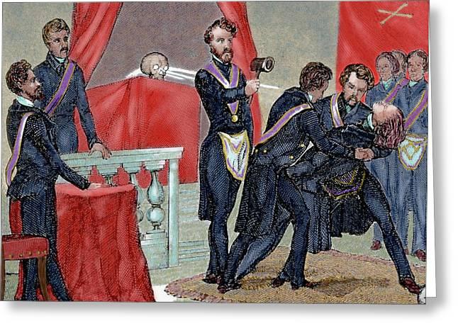 Secret Societies (19th-century Greeting Card by Prisma Archivo
