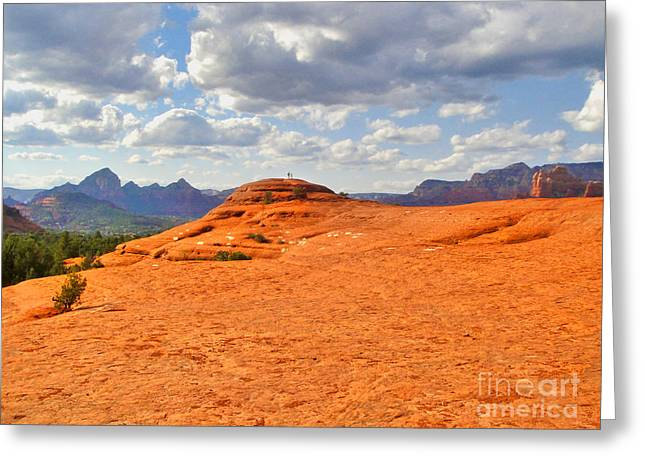 Sedona Arizona - Submarine Rock Greeting Card by Gregory Dyer