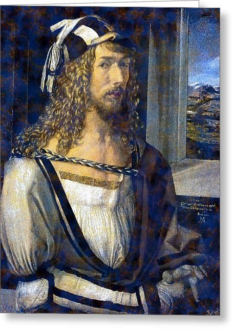 Self Portrait Greeting Card by Albrecht Durer
